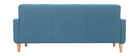 Sofá nórdico tejido azul petróleo 3 plazas LUNA