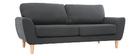 Sofá nórdico tejido gris antracita 3 plazas ALICE