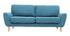 Sofá nórdico tejido gris azul petróleo 3 plazas ALICE