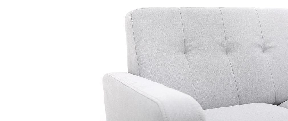 Sofá nórdico tejido gris claro 3 plazas LUNA