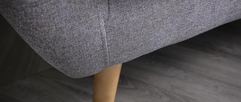 Sofá rinconera reversible 3 plazas gris claro LOFA