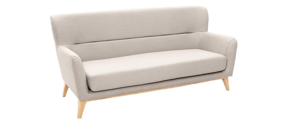 Sofá vintage 3 plazas gris claro MARKUS