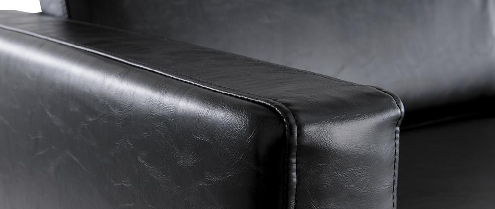 Sofá vintage negro 3 plazas RICCI