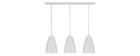 Suspensión barra diseño 3 luces blanca FRIDAY