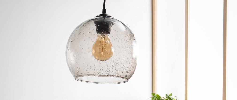 Suspensión bola diseño cristal ahumado SPHERE