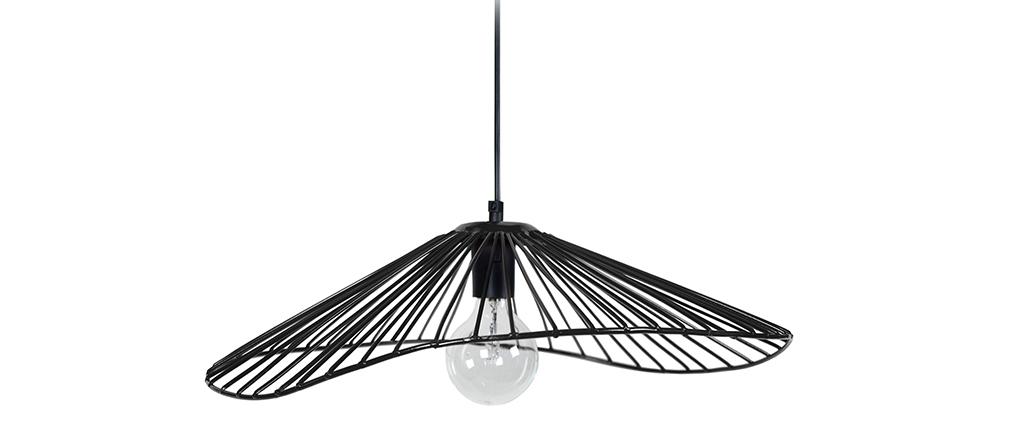 Suspensión cableada diseño metal negro MILADY