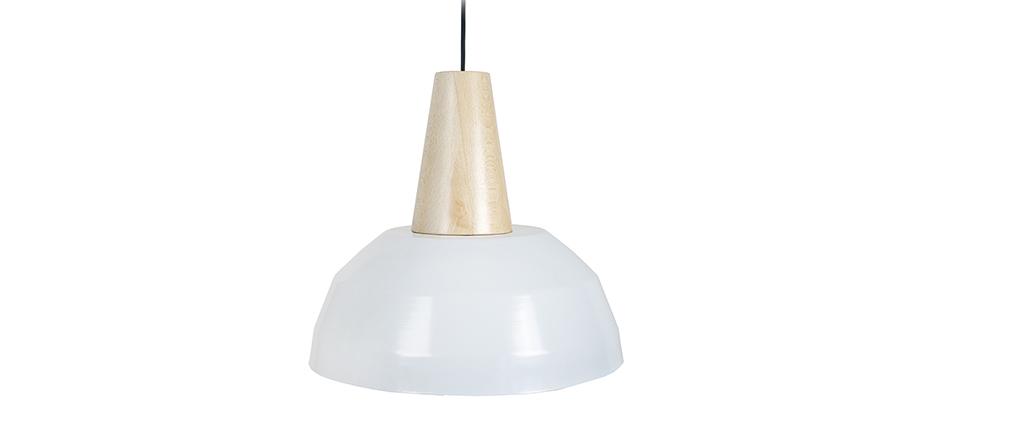 Suspensión diseño blanca y madera PULSE