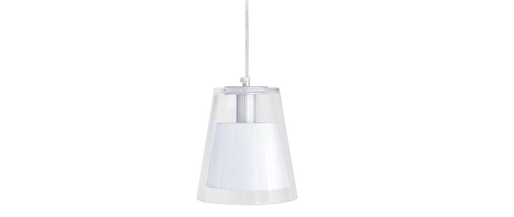 Suspensión diseño cristal y blanco ACROSS