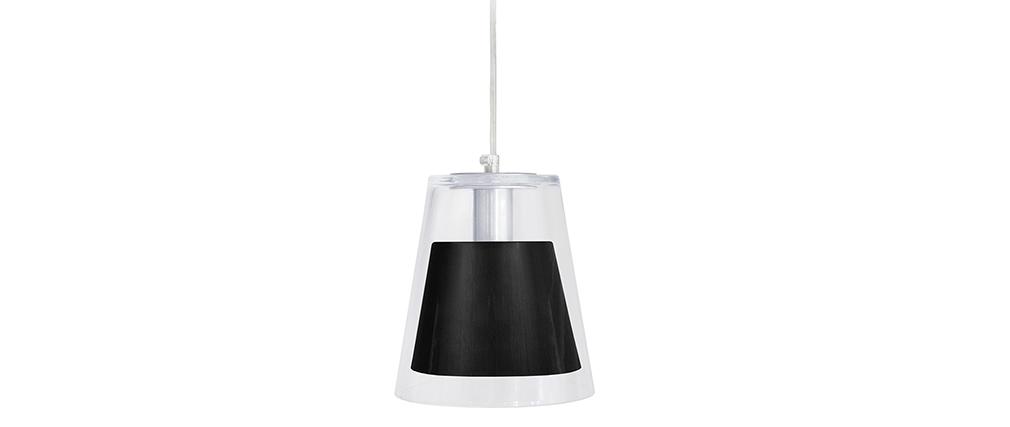 Suspensión diseño cristal y negro ACROSS