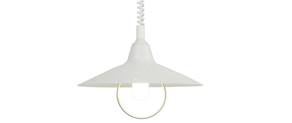 Suspensión diseño metal blanca OLSON