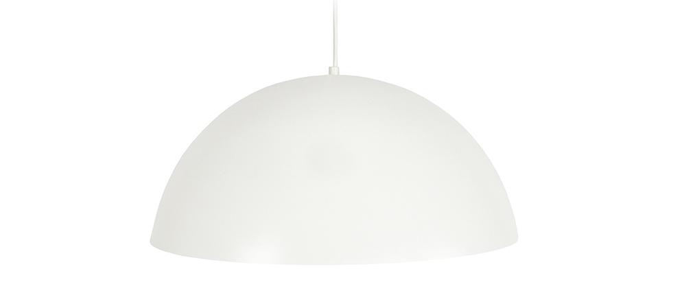 Suspensión semi esfera diseño blanca POG