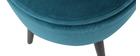 Taburete cofre en terciopelo azul petróleo MADO