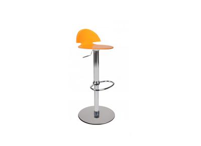 Taburete de bar bicolor naranja y blanco ORION