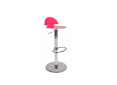 Taburete de bar bicolor rosa y blanco ORION