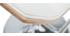 Taburete de bar blanco y madera clara MELKIOR