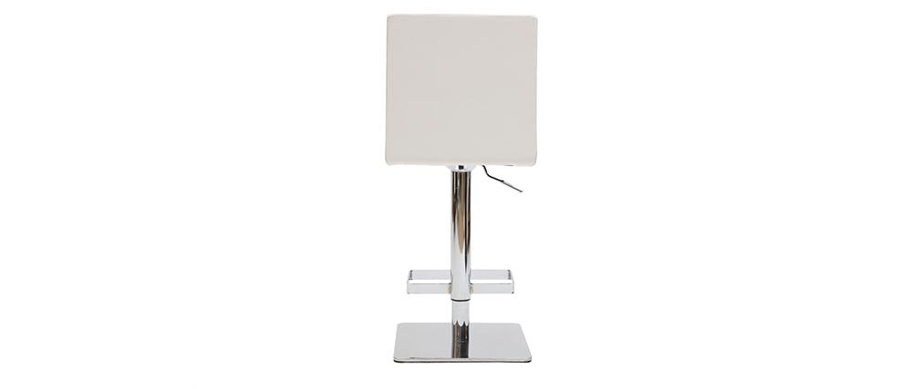 Taburete de bar de diseño blanco COLOMBUS