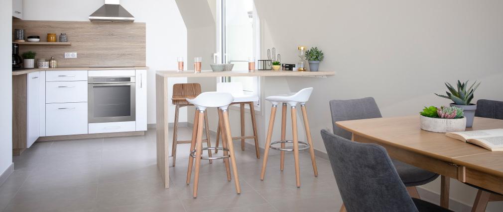 Taburete de bar de diseño escandinavo GILDA