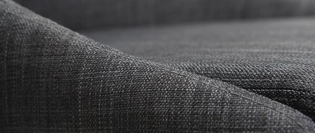 Taburete de bar diseño 75cm madera y tejido gris antracita DALIA