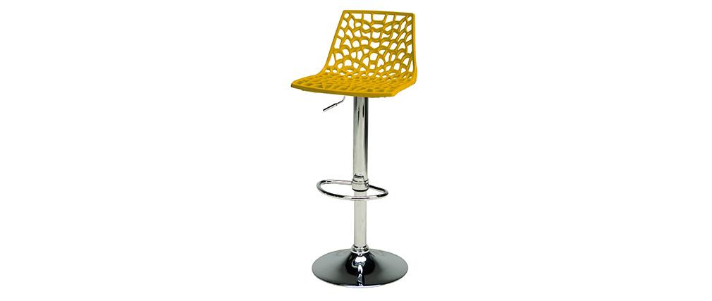 Taburete de bar diseño amarillo ATRAX