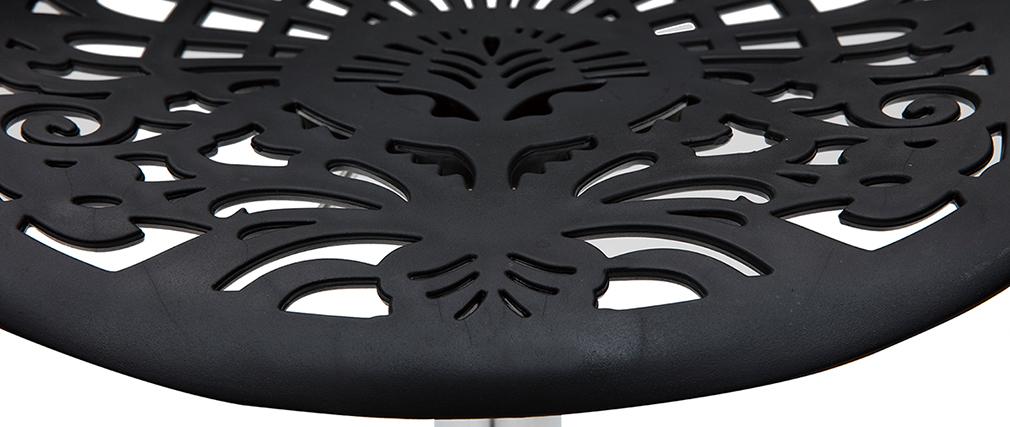 Taburete de bar diseño barroco negro BAROCCA