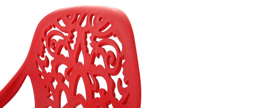 Taburete de bar diseño barroco rojo BAROCCA