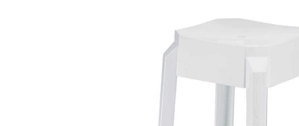 Taburete de bar diseño blanco 75cm lote de 2 CLEAR