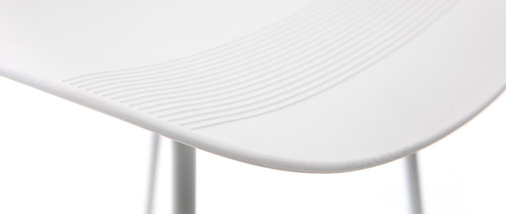 Taburete de bar diseño blanco lote de 2 STELLA