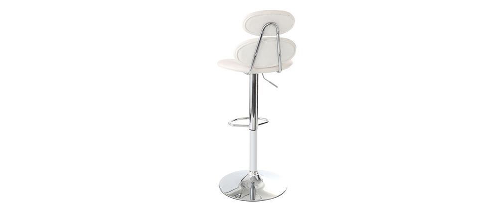 Taburete de bar diseño blanco STONE