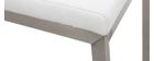Taburete de bar diseño contemporáneo - aluminio y PU blanco lote de dos STELLAR