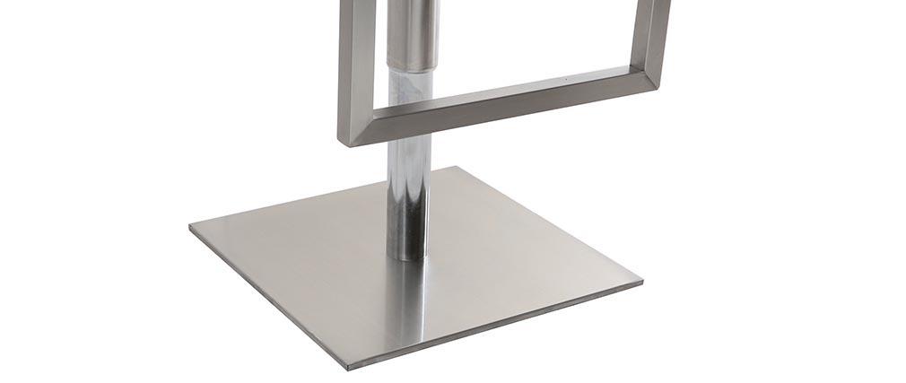Taburete de bar diseño contemporáneo - metal y PU blanco - KYLE