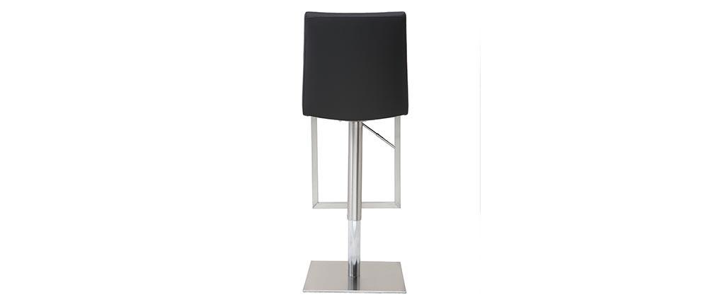 Taburete de bar diseño contemporáneo - metal y PU negro - KYLE