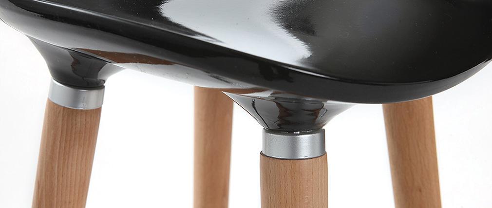 Taburete de bar diseño escandinavo negro lote de 2 GILDA