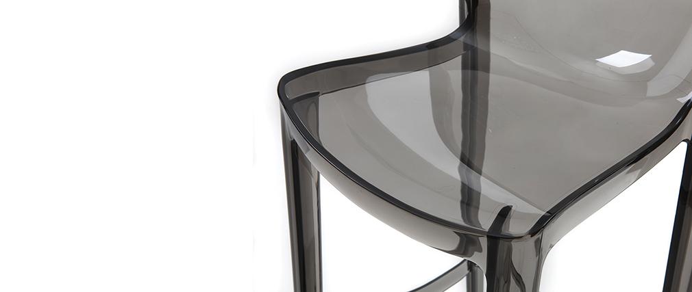Taburete de bar diseño gris ahumado lote de 2 YLAK