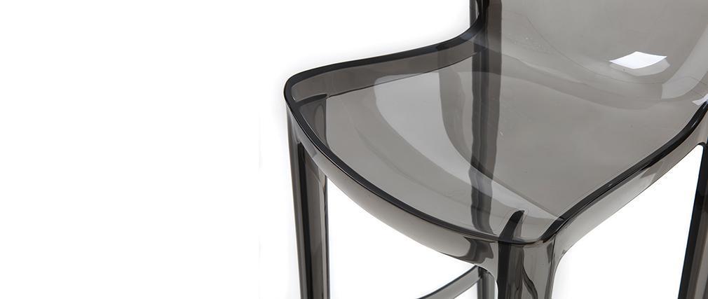 Taburete de bar diseño gris ahumado lote de 4 YLAK