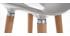 Taburete de bar diseño gris escandinavo lote de 2  GILDA