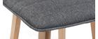 Taburete de bar diseño madera y gris oscuro 65cm lote de 2 EMMA