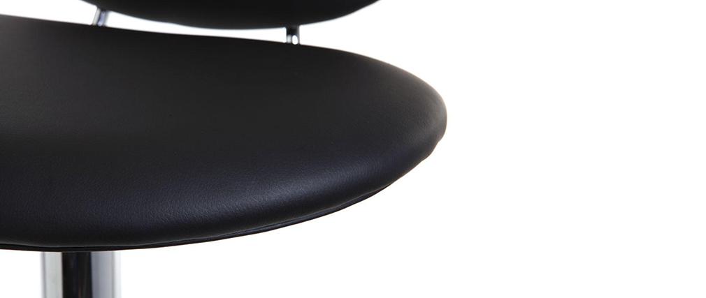 Taburete de bar diseño negro STONE
