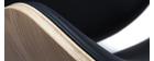 Taburete de bar diseño negro y madera clara WALNUT