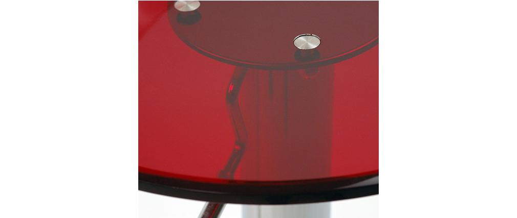 Taburete de bar diseño plexiglas rojo transparente lote de 2 ORION