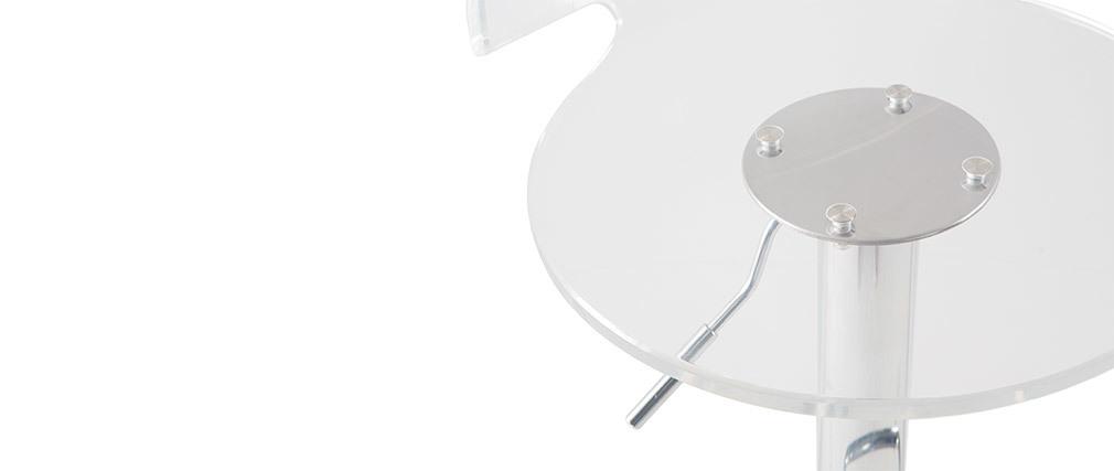 Taburete de bar diseño plexiglas transparente lote de 2 ORION