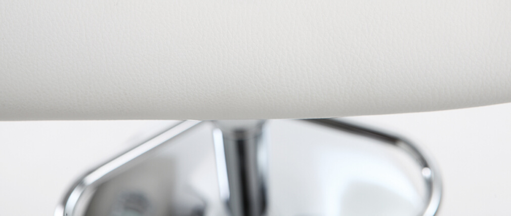 Taburete de bar diseño poliuretano blanco lote de 2 CYRUS