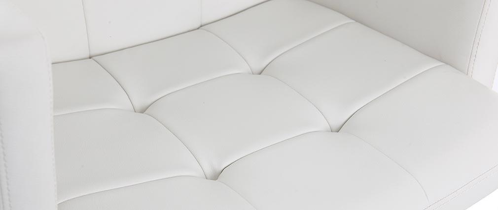 Taburete de bar diseño PU blanco BLAKE