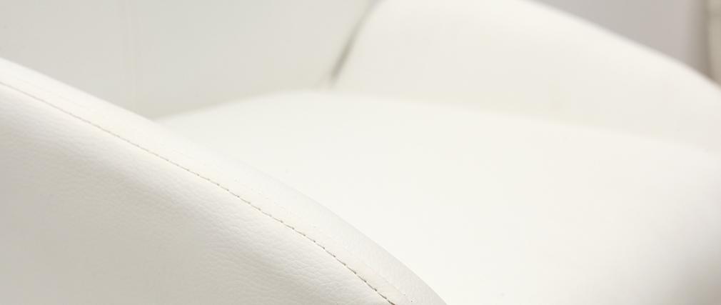 Taburete de bar diseño PU blanco lote de 2 ALEK