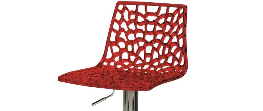 Taburete de bar diseño rojo ATRAX