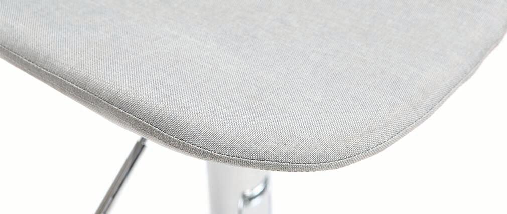 Taburete de bar diseño tejido gris claro lote de 2 ZACK
