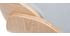 Taburete de bar diseño tejido gris claro y madera clara BENT