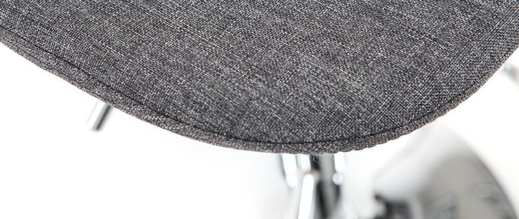 Taburete de bar diseño tejido gris oscuro lote de 2 ZACK