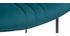 Taburete de bar en terciopelo azul petróleo y metal A65 cm GOTHAM
