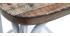 Taburete de bar industrial en madera y metal  envejecido blanco 75 cm JAKE