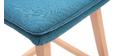 Taburete de bar madera y azul petróleo 65cm lote de 2 JOAN